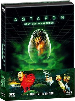 Astaron - Brut des Schreckens (1980) (Wattiert, Limited Edition, Mediabook, Blu-ray + 3 DVDs)