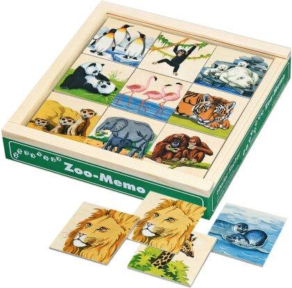 Memo Zoo - 48 Teile, Birkensperrholz