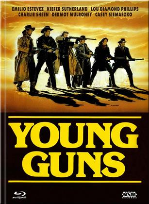 Young Guns (1988) (Cover C, Limited Edition, Mediabook, Blu-ray + DVD)