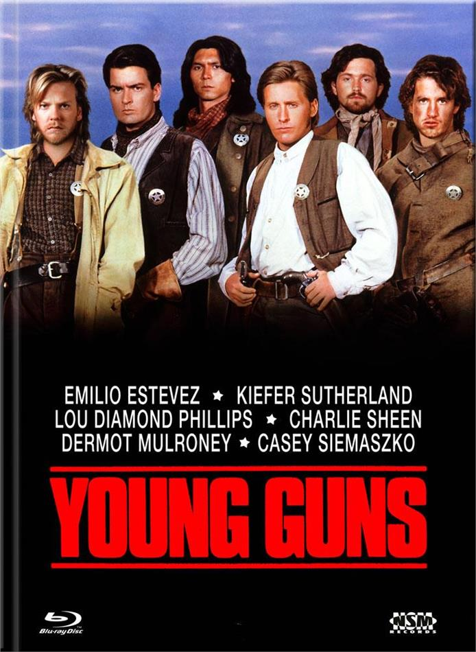 Young Guns (1988) (Cover A, Limited Edition, Mediabook, Blu-ray + DVD)