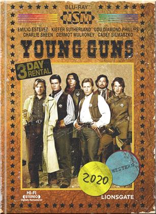 Young Guns (1988) (Cover B, Limited Edition, Mediabook, Blu-ray + DVD)