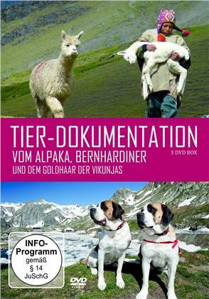 Tier-Dokumentationen - Vom Alpaka, Bernhardiner und dem Goldhaar der Vikunjas (3 DVDs)