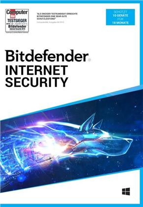 Bitdefender Internet Security 10 Geräte/18 Monate (Code in a Box)