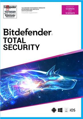 Bitdefender Total Security 10 Geräte/18 Monate (Code in a Box)