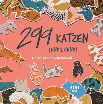 299 Katzen (und 1 Hund) - Puzzle 300 Teile