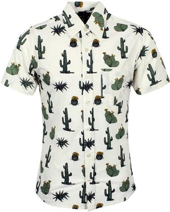 Run & Fly: Retro Cactus - Short Sleeve Shirt