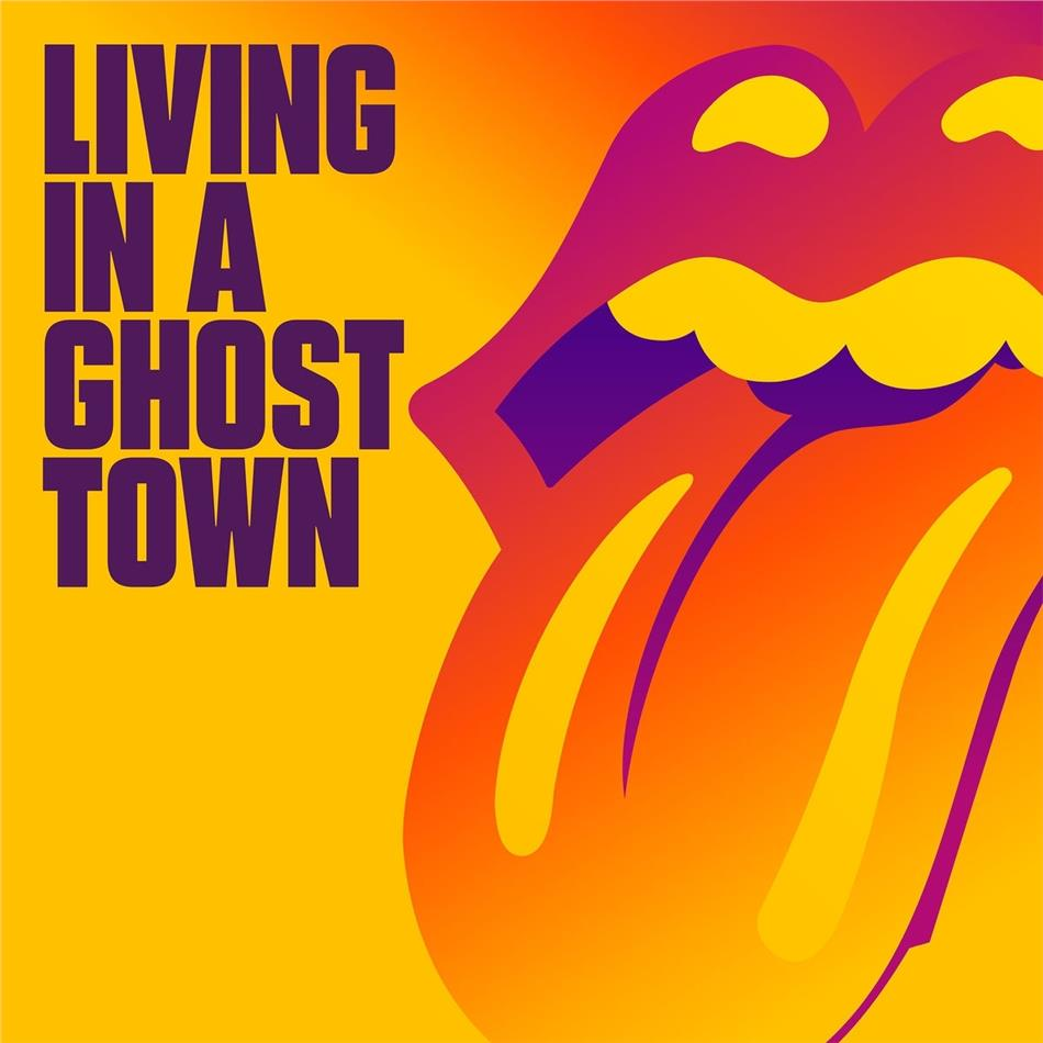 """The Rolling Stones - Living In A Ghost Town (One Sided Vinyl, Orange Vinyl, 10"""" Maxi)"""