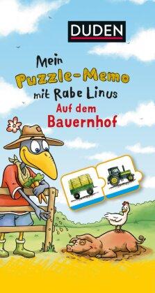 Mein Puzzlememo mit Rabe Linus: Auf dem Bauernhof
