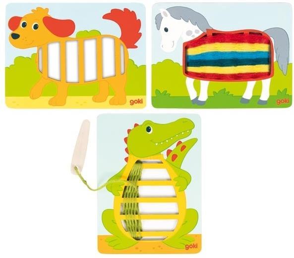 Webbilder Krokodil, Hund, Pferd