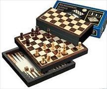 Reise-Schach-Backgammon-Dame-Set - magnetisch