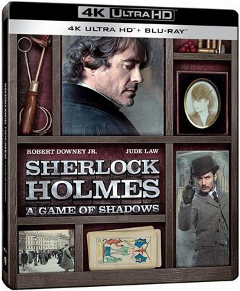 Sherlock Holmes 2 - Jeu d'ombres (2011) (Limited Edition, Steelbook, 4K Ultra HD + Blu-ray)