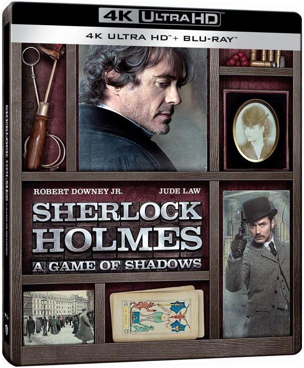 Sherlock Holmes 2 - A Game of Shadows (2011) (Limited Edition, Steelbook, 4K Ultra HD + Blu-ray)