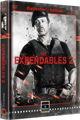 The Expendables 2 (2012) (Cover B, Limited Edition, Mediabook, Blu-ray + DVD)