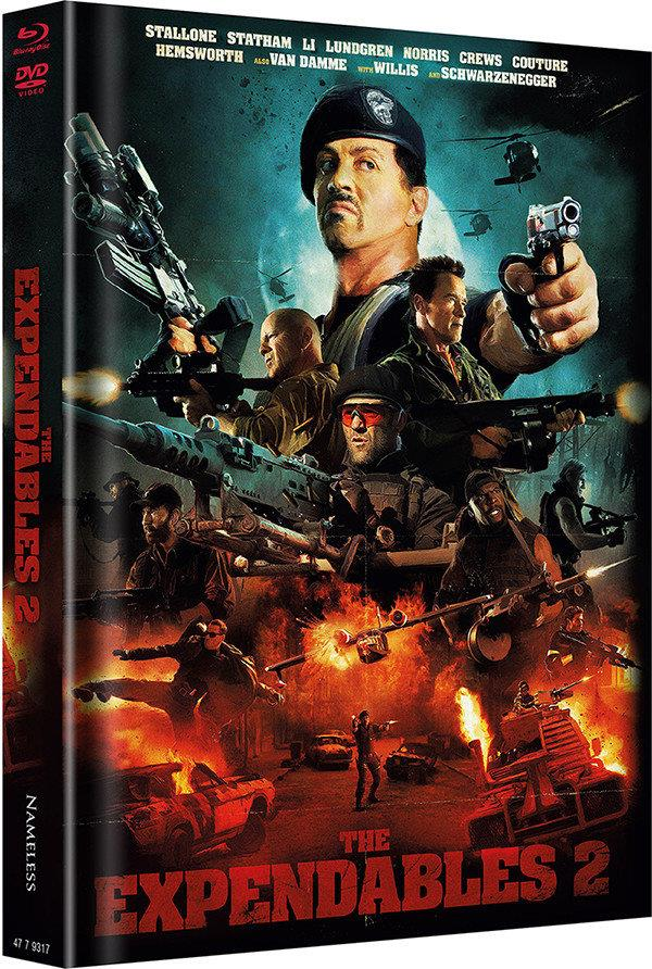 The Expendables 2 (2012) (Cover A, Limited Edition, Mediabook, Blu-ray + DVD)