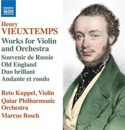 Henri Vieuxtemps (1820-1881), Marcus Bosch, Reto Kuppel & Qatar Philharmonic Orchestra - Works For Violin & Orchestra