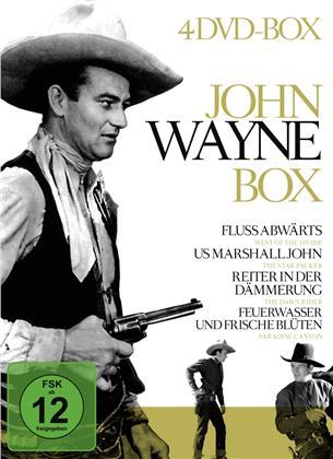 John Wayne Box - Flussabwärts / US Marshall John / Reiter in der Dämmerung (4 DVDs)