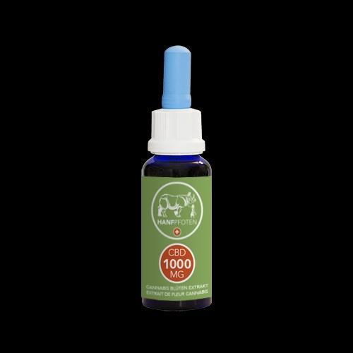 Hanfpfoten CBD-Öl 1000mg - 30ml - für Hunde und andere Tiere mittlerer Grösse