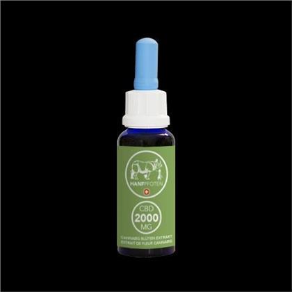 Hanfpfoten CBD-Öl 2000mg - 30ml - für grosse Hunde und andere grosse Tiere