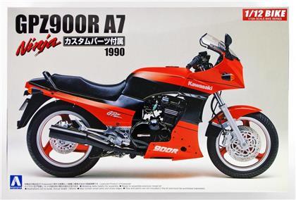 Aoshima - 1/12 Kawasaki Gpz900r Ninja A7 With Custom Parts