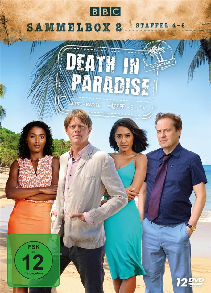 Death in Paradise - Staffel 4-6 (Sammelbox, BBC, 12 DVDs)