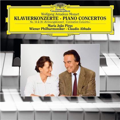 Wolfgang Amadeus Mozart (1756-1791), Claudio Abbado, Maria Joao Pires & Wiener Philharmoniker - Mozart: Piano Concertos Nr. 14 & Nr. 16 (LP)