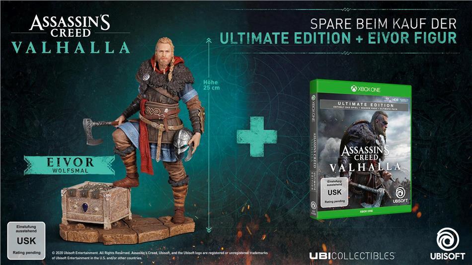 Assassins Creed Valhalla - Ultimate Edition + Figur Bundle