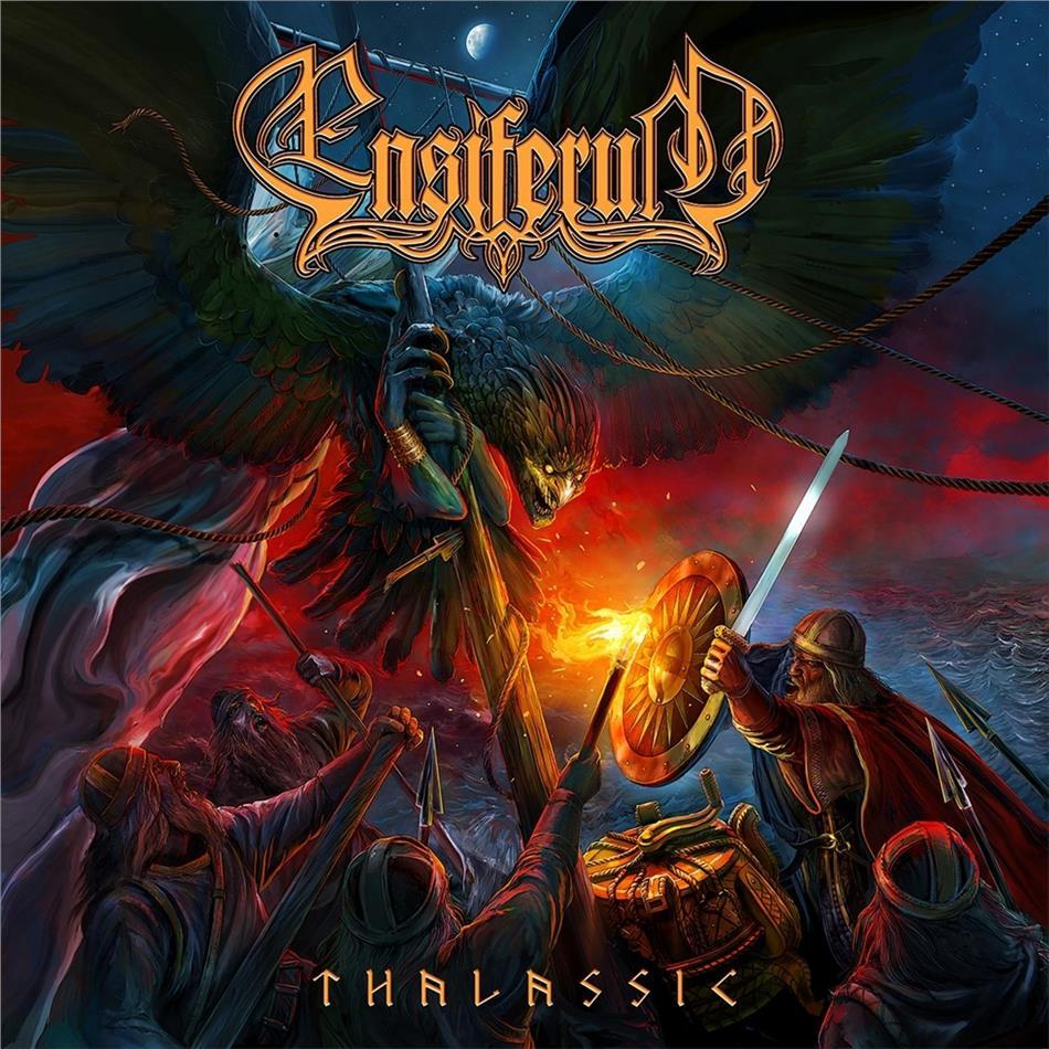 Ensiferum - Thalassic (Gatefold, Poster, Red Black Marbled Vinyl, LP + Digital Copy)