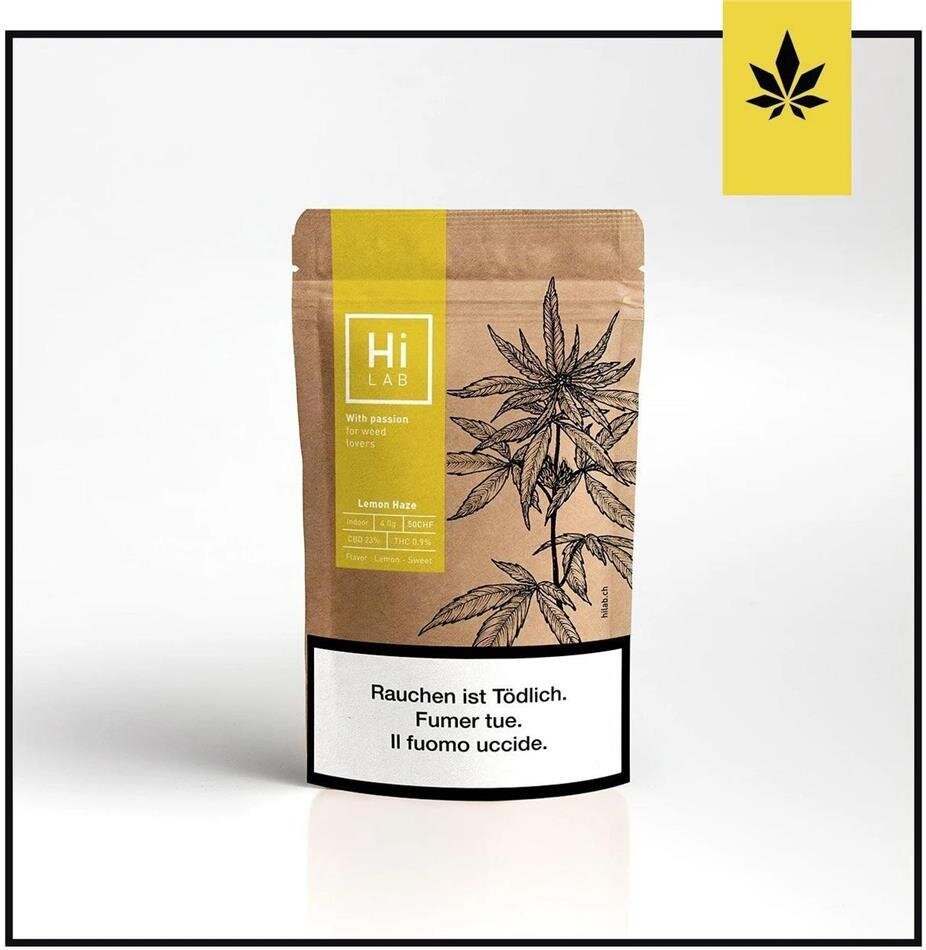Hi Lab Lemon Haze (5g) - Indoor (23% CBD, 0.9% THC)