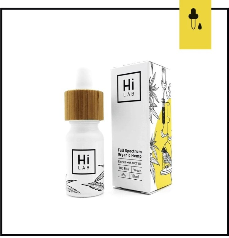 Hi Lab Full Spectrum Organic Hemp Oil 6% (10ml) - (6.1% CBD, 0% THC)