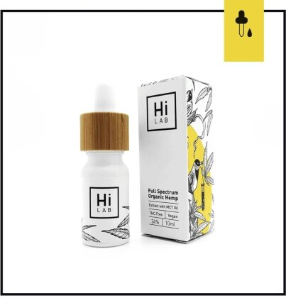Hi Lab Full Spectrum Organic Hemp Oil 24% (10ml) - (24.3% CBD, 0% THC)