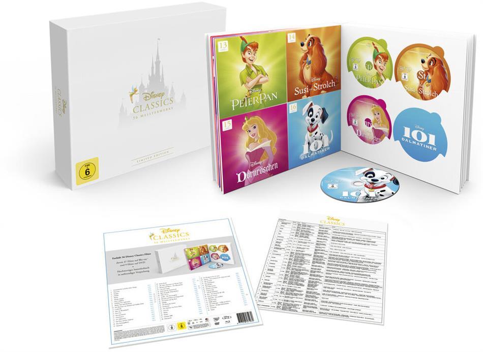 Disney 56 Classics - Die komplette Sammlung (50 Blu-rays + 6 DVDs)