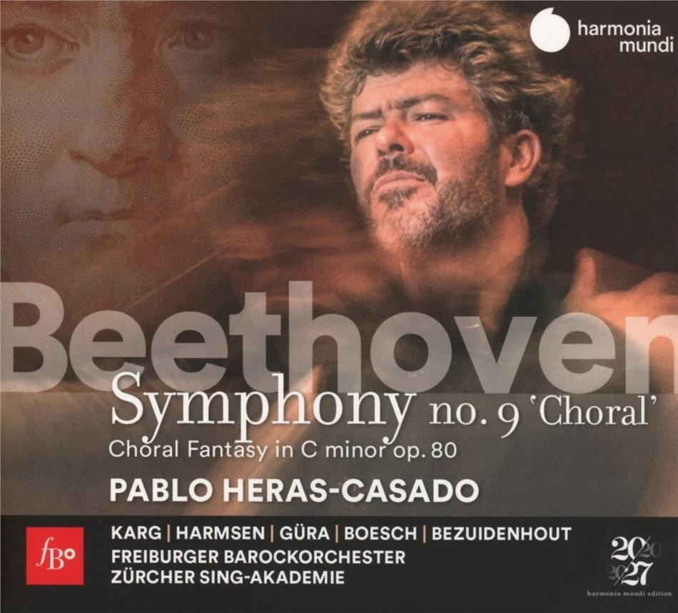 Ludwig van Beethoven (1770-1827), Pablo Heras-Casado, Freiburger Barockorchester & Zürcher Sing-Akademie - Symphony No.9 Choral & Choral Fantasie (2 CDs)