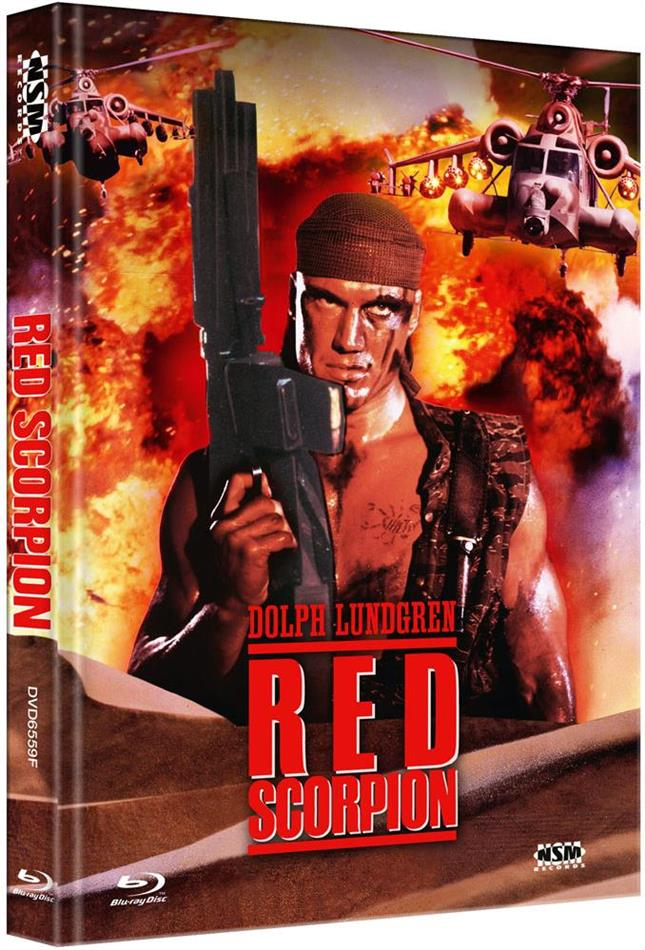 Red Scorpion (1988) (Cover F, Limited Edition, Mediabook, Blu-ray + DVD)