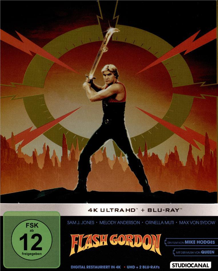 Flash Gordon (1980) (Limited Edition, Restaurierte Fassung, Steelbook, 4K Ultra HD + 2 Blu-rays)