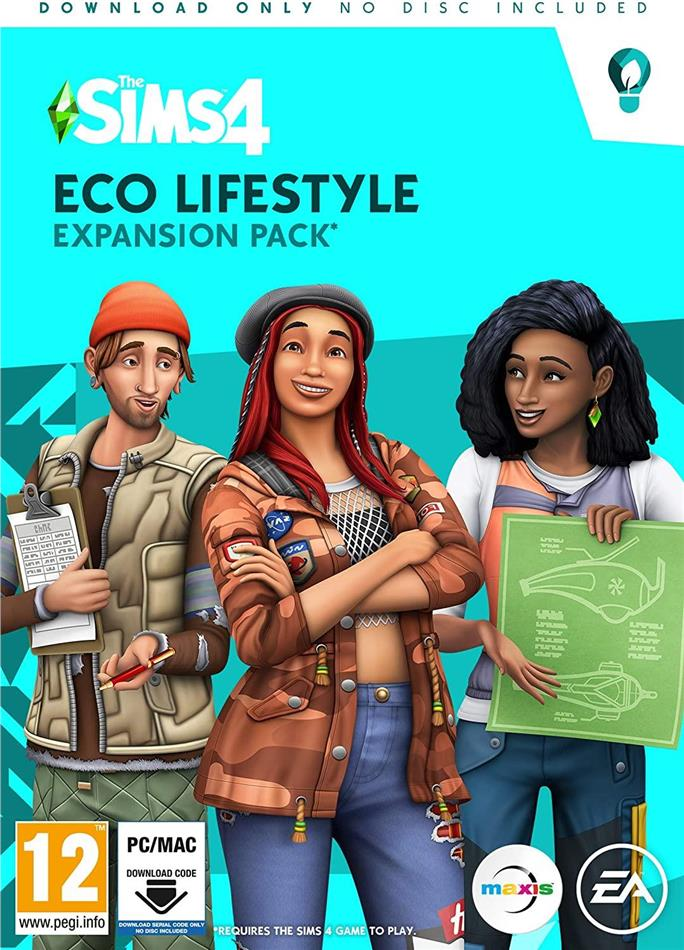 The Sims 4 ADDON Eco Lifestyle - (Code in a Box)