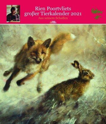 Rien Poortvliet gr. Tierkalender 2021