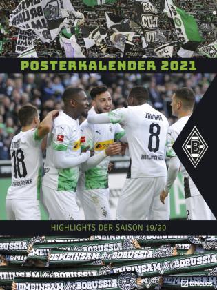 Borussia Mönchengladbach 2021 - Wandkalender XL - Fußballkalender - Fankalender - 48x64