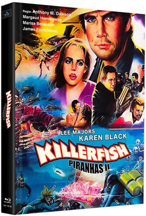 Killerfish - Piranhas 2 (1979) (Cover G, Limited Edition, Mediabook, 2 Blu-rays)