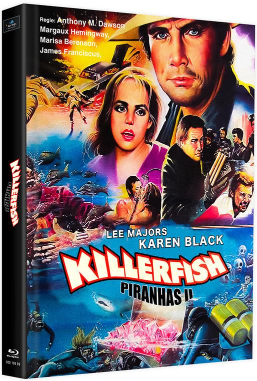 Killerfish - Piranhas 2 (1979) (Cover G, Edizione Limitata, Mediabook, 2 Blu-ray)