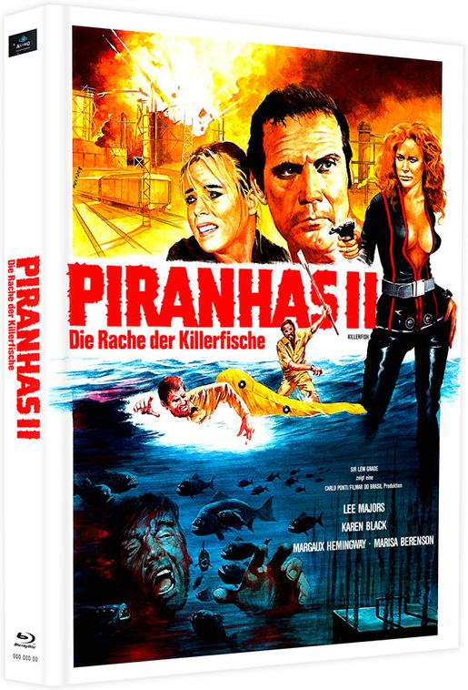 Piranhas 2 - Die Rache der Killerfische (1979) (Cover D, Edizione Limitata, Mediabook, 2 Blu-ray)