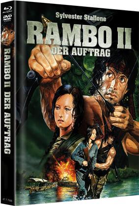 Rambo 2 - Der Auftrag (1985) (Cover B, Limited Edition, Mediabook, Blu-ray + DVD)