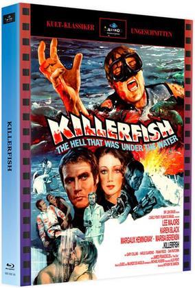 Killerfish (1979) (Cover A, Kult-Klassiker Ungeschnitten, Limited Edition, Mediabook, 2 Blu-rays)