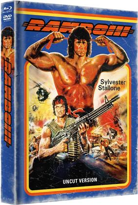 Rambo 3 (1988) (Cover A, Limited Edition, Mediabook, Blu-ray + DVD)