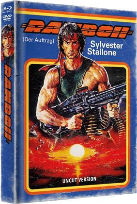 Rambo 2 - Der Auftrag (1985) (Cover B, Limited Edition, Mediabook, Restaurierte Fassung, Uncut, Blu-ray + DVD)