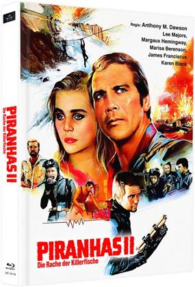Piranhas 2 - Die Rache der Killerfische (1979) (Cover F, Edizione Limitata, Mediabook, 2 Blu-ray)