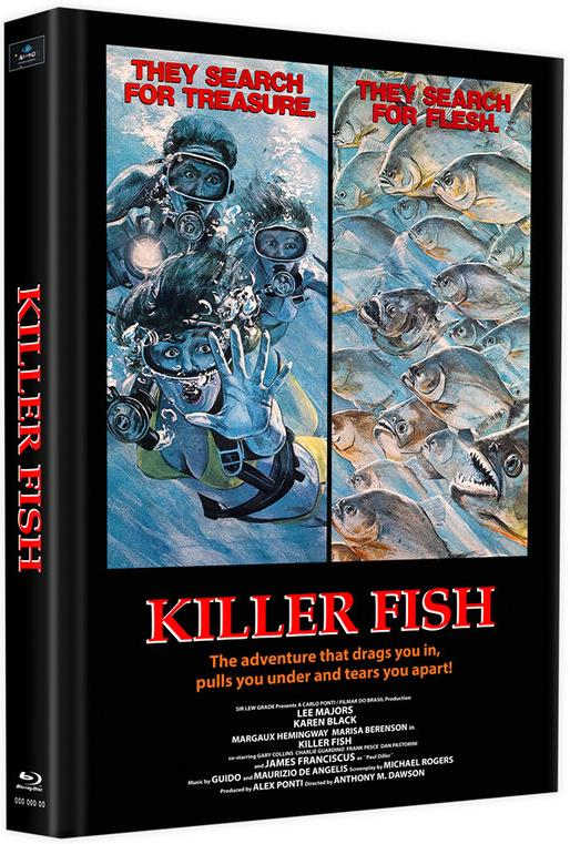 Killer Fish (1979) (Cover B, Edizione Limitata, Mediabook, Uncut, Blu-ray + DVD)