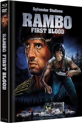 Rambo - First Blood (1982) (Cover B, Limited Edition, Mediabook, Blu-ray + DVD)
