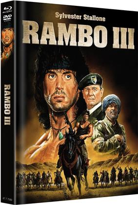 Rambo 3 (1988) (Cover B, Limited Edition, Mediabook, Blu-ray + DVD)