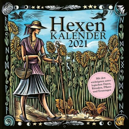 Hexenkalender 2021 - Wandkalender/Broschürenkalender-30 x 30 cm