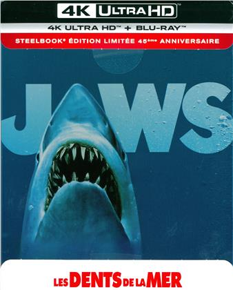 Jaws - Les dents de la mer (1975) (45th Anniversary Edition, Limited Edition, Steelbook, 4K Ultra HD + Blu-ray)